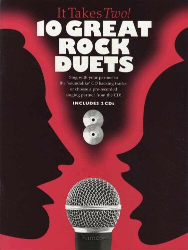It Takes Two 10 Great Rock Duets Vocal Sheet Music Book//2CDs Singalong