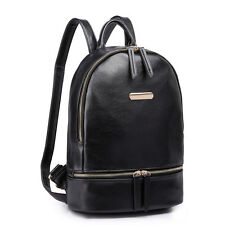 ad7a07c19340 item 3 Women Faux Leather Shoulder School Backpack Handbag Travel Tote Bag  Black -Women Faux Leather Shoulder School Backpack Handbag Travel Tote Bag  Black
