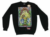 Nintendo Zelda Stained Glass Wind Waker Black Men's Sweatshirt