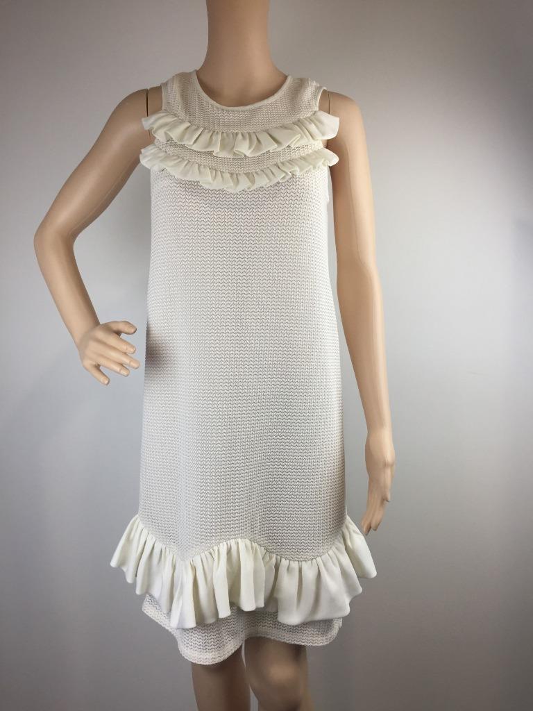 Nicola Finetti Formal Party Shift Sleeveless Cream Dress   Größe 8