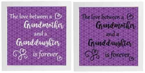 Vinyl Decal fits 20x20cm Box Frame THE LOVE BETWEEN GRANDMOTHER//GRANDDAUGTHER