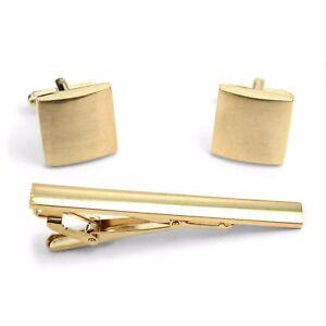 Premium-Minimalist-Plain-Golden-Tie-Clip-Bar-and-Cufflink-Gift-Set-with-Box