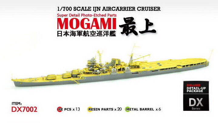 AKA PE 1 700 IJN Aircarrier Cruiser MOGAMI 1944 for Fujimi DX7002
