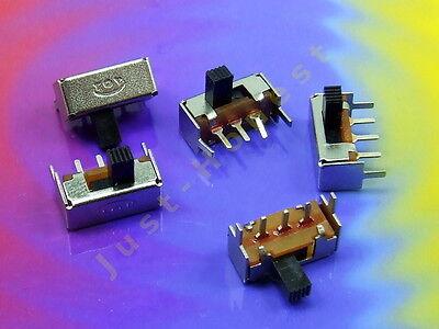 Stk. 5 x Schalter / Slide Switch für Platine / PCB MIKRO MINI Mikroschalter PCB