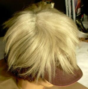 Vintage-Antique-Men-039-s-Hair-Toupee-Old-Replacement-Hairpiece-Blond-Toehead-Color