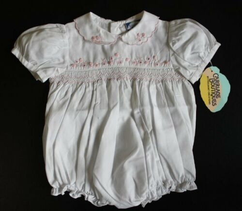 NWT Carriage Boutiques Darling Smocked Bubble Romper 3 Months Twins Reborn Dolls