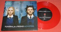 """FUNERAL FOR A FRIEND - 7"""" RED VINYL SINGLE - MONSTERS - NEAR MINT"""