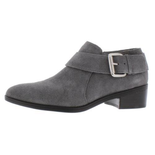 B,M BHFO 8714 Bella Vita Womens Hadley Gray Suede Booties Shoes 6 Medium