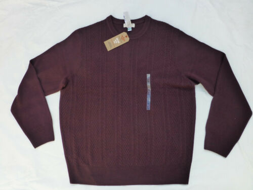 NWT MENS DOCKERS COMFORT TOUCH EASY CARE SWEATER $55 CABERNET 81069CK
