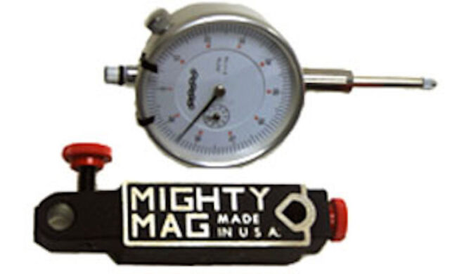 "Mighty Mag Magnetic Base with VME VDI-2 0-1/"" Dial Indicator Free Shipping"