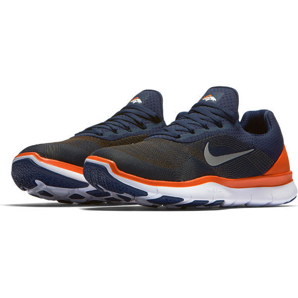 9933b5323e511 Denver BRONCOS Nike NFL Free Trainer V7 V7 V7 Tennis Shoes New in Box Size  10.5 300f75