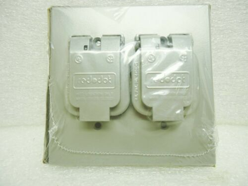 """Red Dot 2CCS Single  Two Gang 1.485/"""" Receptacle Cover Die Cast Aluminum"""