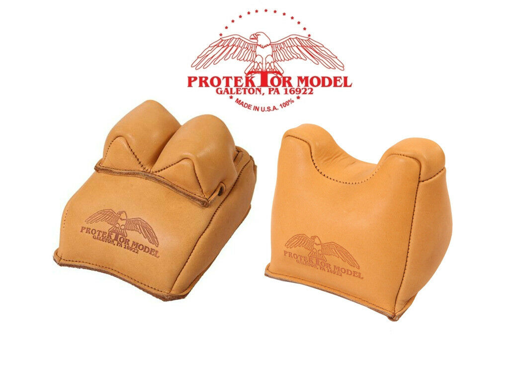 PROTEKTOR MODEL - NEW RIFLE REST SHOOTING SET OF 14F REAR &  7F FRONT BAGS