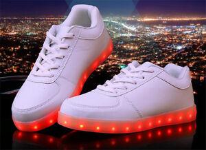 Unisex LED Light up Shoes Men Women Luminous Sneakers Trainer USB ... 76108c5455