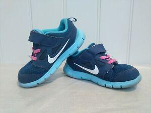 Nike Free 5 TDV Girls Pink Navy Blue