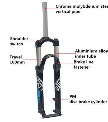 6061 Alloy Unbranded 24 Inch Rigid Bike Fork