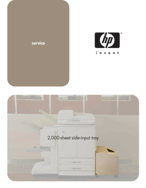 Hp Laserjet 9500 Finisher And Feeder Service Manual  Parts