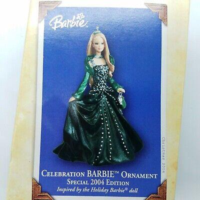 2005 Hallmark Keepsake Christmas ornament in box Celebration Barbie Afr Amer