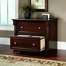 Lateral File Cabinet Cherry Wood 2 Drawer Document Storage Office Home Furniture