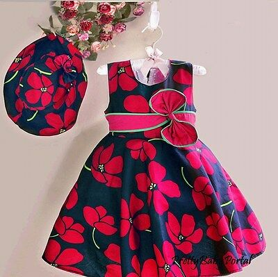 NEW GIRLS Baby Toddler Kid's Clothes Sleeveless Floral Skirt One Piece Dress