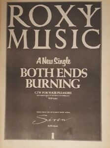 Roxy-Music-Both-ends-burning-1975-press-advert-Full-page-28-x-39-cm-poster