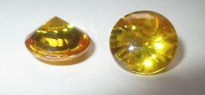 1 Cz Gold, 10,0 Mm, Rund, Bufftop-schliff Cubic Zirkonia Synthetischer Edelstein Auf Der Ganzen Welt Verteilt Werden