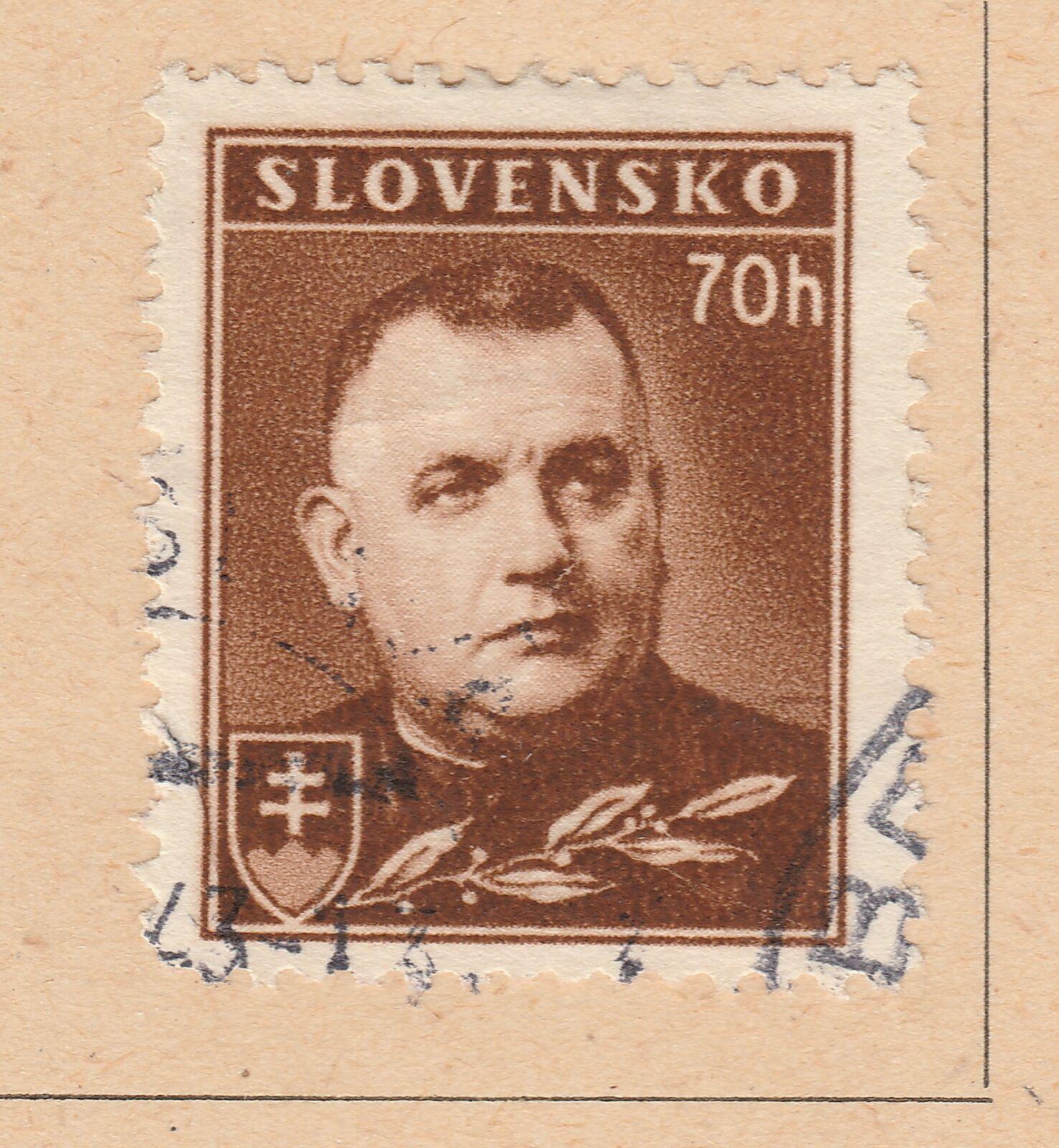 A5P57F204 Slovakia 1939-43 Wmk Cross Multiple 70h used