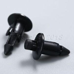 10x Motorcycle 6mm Clips Fairing Plastic Screw Rivets Panel Trim For Suzuki