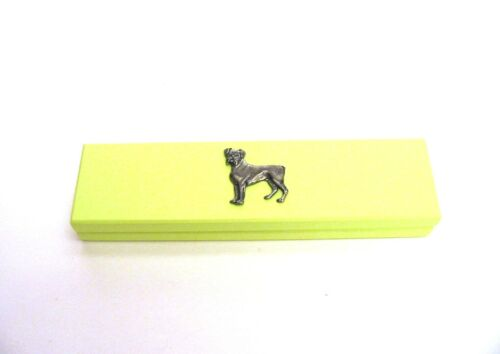 Boxer Dog Lime Wooden Pen Box /& Pens Mother Dad Christmas Gift Stationery