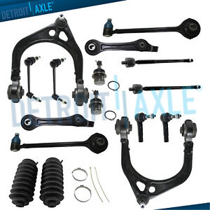 Upper /& Lower Control Arms PartsW 16 Pc Front /& Rear Suspension Kit for Chrysler 300 Dodge Charger Challenger /& Magnum Inner /& Outer Tie Rod Ends Sway Bar End Links /& Steering Gear Bellows