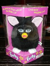 Vintage Original NIB 1998 Electronic Furby Black w White Feet & Pink Ears Toy