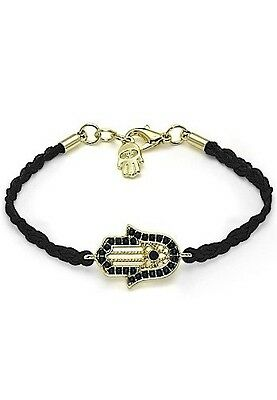 Black HAMSA BRACELET - - Jewish Good Luck Lucky Against Evil Eye String Kaballah
