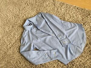 Next-New-Without-Tags-Men-Blue-Checked-Shirt-Size-15-Easy-Iron