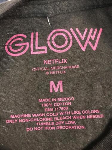 New GLOW Netflix Original Mens Sizes M-XL-2XL Black T-Shirt