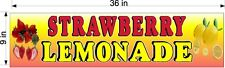 9 X 36 Corrugated Plastic Sign Strawberry Lemonade New