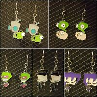 Invader Zim Dangle Earrings - 5 Varieties - Fast Free Shipping W/tracking