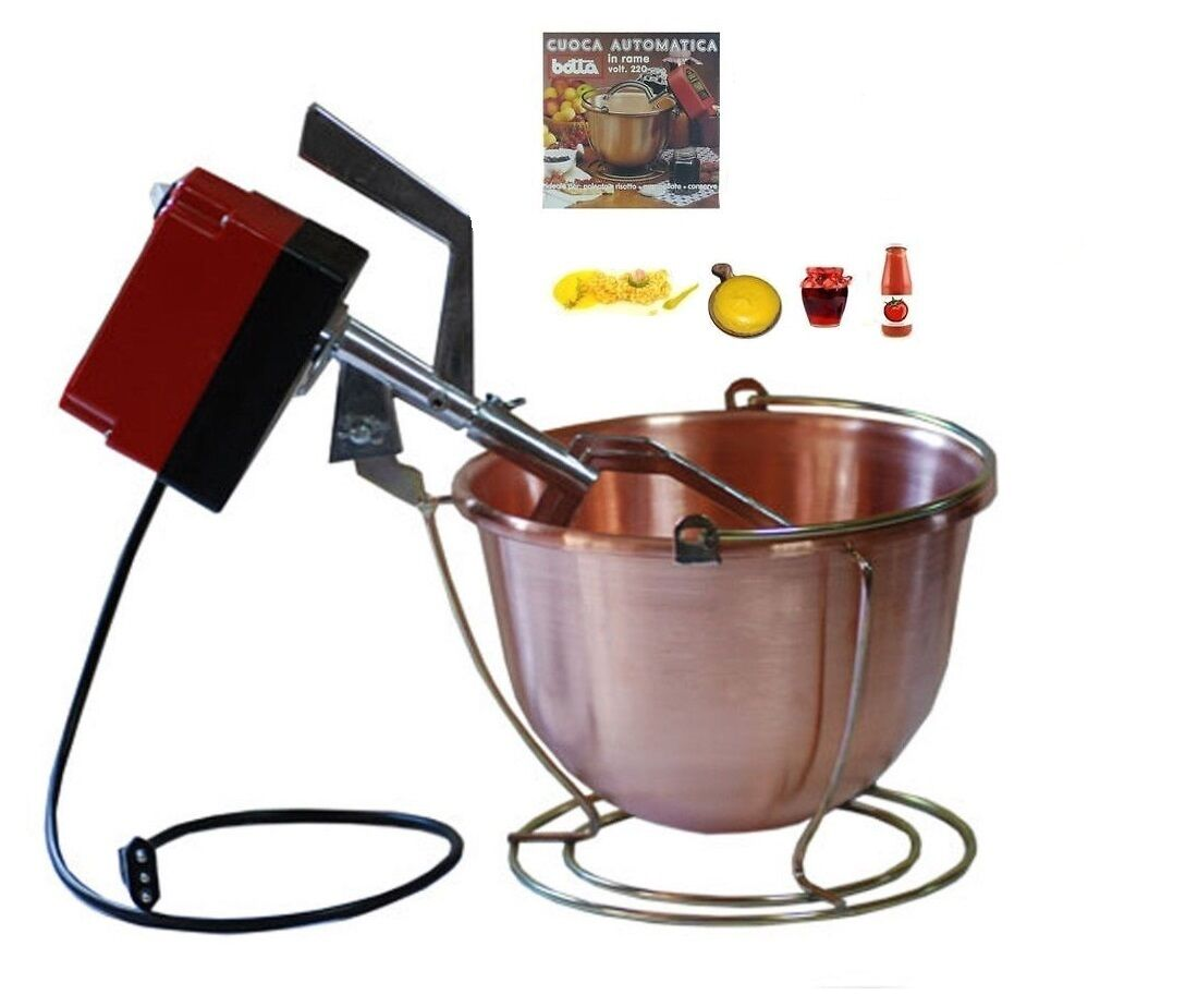 Botta paiolo elettrico MP(24V) cm.34 (9Lt.) per polenta-marmellate-made in