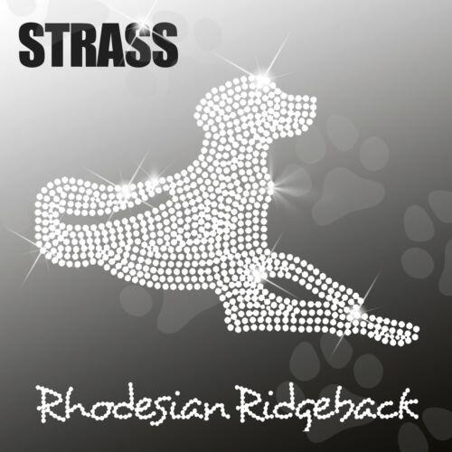 RHODESIAN RIDGEBACK Strass Applikation Strassbild Bügelbild HotFix ca.20x18,5cm