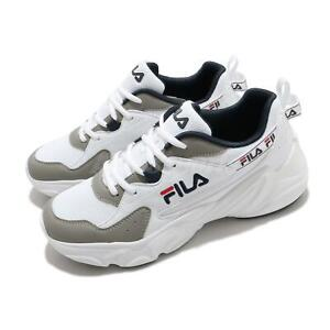 Fila Hidden Tape2 White Grey Navy Men Running Casual Lifestyle Shoes Sneakers
