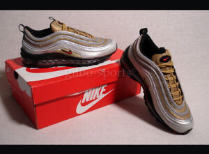 Details zu Nike Air Max 97 SSL Metallic Silver Gold White Red Gr 40 weiß schwarz BV0306 001