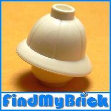 G145A Lego Minifigure Headgears Pith Helmet - White 7418 7419 5988 NEW
