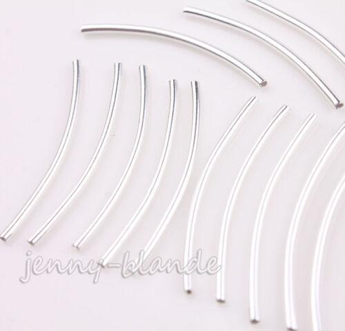 Vente en Gros Or Argent Incurvé Tube Loose Spacer Beads À faire soi-même Bracelet Making Access