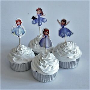 Image Is Loading Disney Sofia The First Princess Cupcake Toppers Party