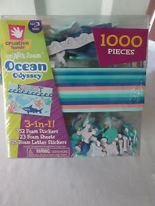1000 pcs, Creative Hands Smart Foam & Stickers Ocean Odyssey - Kids Crafts ,New