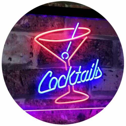 Cocktails Glass Bar Club Beer Decor Bar Dual Color Led Neon Sign st6-i2112