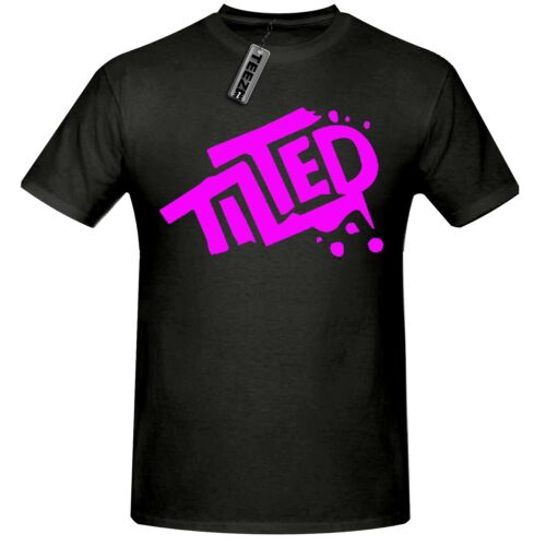Tilted t shirt,Children/'s Tilted Towers t shirt in Black//pink
