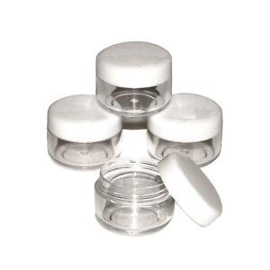 5ml-5-gram-Craft-Jars-Pots-with-White-Lids-Samples-Glitter-gel-tester-jhw
