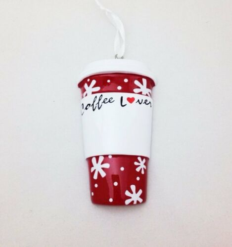 NAME PERSONALIZED 2018 Coffee Lover Latte Cup Christmas Ornament Holiday GIFT