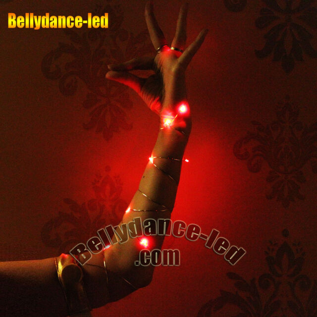 USA!1pc LED light up belly dance wear glow armbands 6 color choice accessories