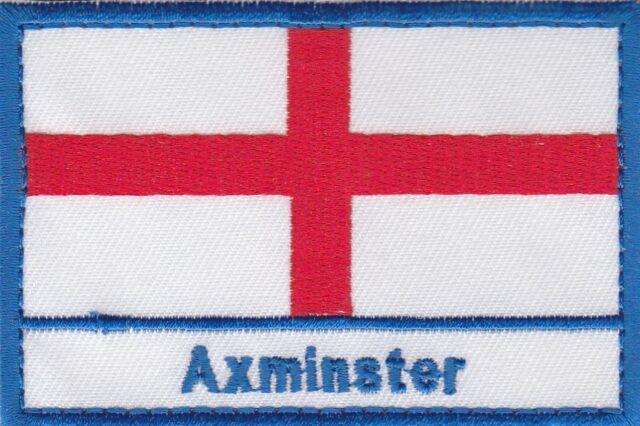 Axminster Inglaterra Ciudad y Ciudad Cruz de San Jorge Bordado Parche para Coser